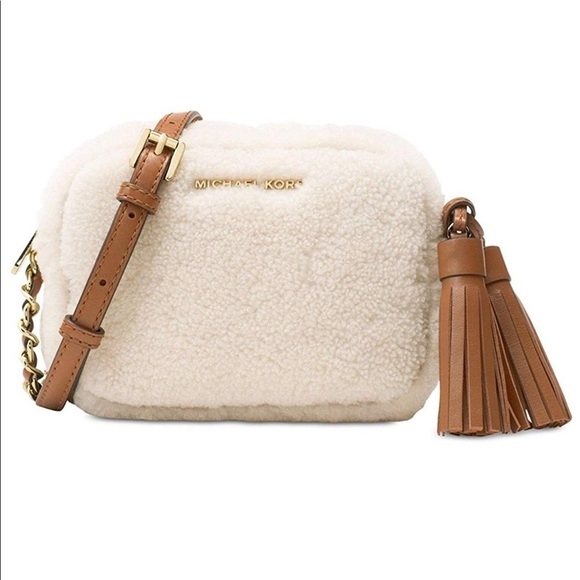 fcf55422ca4a Michael Kors Bags | Mini Shearling Crossbody | Poshmark